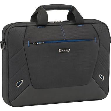 Solo Active Laptop Slim Brief, Black-Blue Accents (TCC104-4/20)