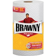 Brawny® Big Roll Pick-a-Size Perforated Paper Towels, 2-Ply, 24 Rolls/Case