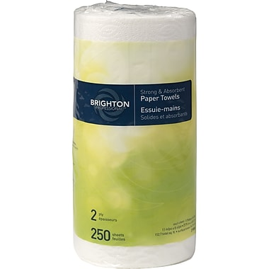 Brighton Professional™ Jumbo Kitchen Roll Towel, 2-ply, Full Size, 250 sheets/Roll, 12 rolls/case, (BPR-21806)