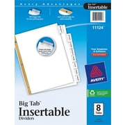"Avery® Big Tab Insertable Dividers, 8 Tab, Clear, 8 1/2"" x 11"""
