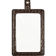 """Cosco® MyID™ Crocodile Brown ID Badge Holder for Key Cards and ID Cards,  4"""" x 2 1/2"""""""