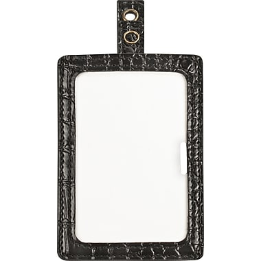Cosco® MyID™ Crocodile Black ID Badge Holder for Key Cards and ID Cards, 4