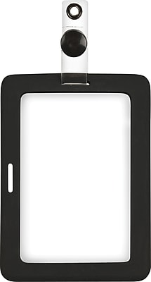 Cosco® MyID™ Rubberized Black ID Badge Holder for Key Cards and ID Cards, 4
