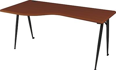 Balt® iFlex™ Modular Desking System Left Rectangle, Cherry/Black