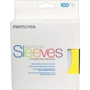 Memorex CD/DVD Sleeves 100/Pack, Assorted Colors