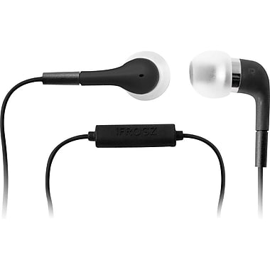iFrogz Luxe EarBuds with Microphone, Black