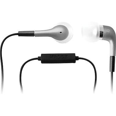 iFrogz Luxe EarBuds with Microphone, Silver