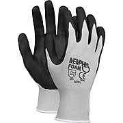 Memphis™ Economy Foam Nitrile Gloves, Gray/Black, 12 Pairs