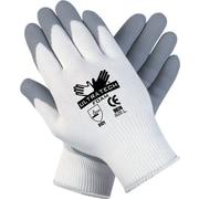 Memphis™ Ultra Tech Foam Seamless Nylon Knit Gloves, Medium, White/Gray, Pair