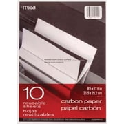 """Mead® Black Carbon Mill Finish Paper, 8-1/2x11"""", 10 Sheets/Pack"""