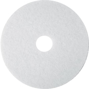 "3M™ White Super Polish Floor Pad 4100, 13"", 5/Carton"