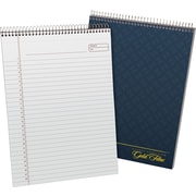 "Ampad Gold Fibre Executive Series Top-Wirebound Notebook, 8 1/2"" x 11 3/4"", Planner Ruled, Navy Cover, 70 Sheets/Pad (20815)"