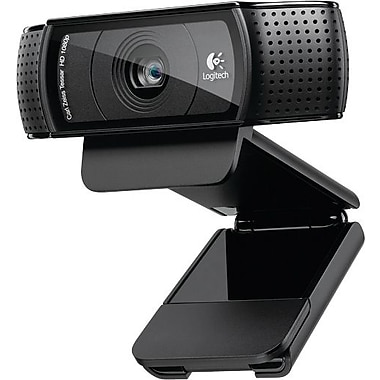 Logitech C920 HD 1080p Pro Computer Webcam with Dual Stereo Microphones (960-000764)