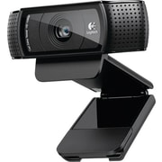 Logitech C920 Pro Computer Webcam With Dual Stereo Microphones, HD 1080p, Black (960-000764)