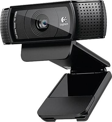 Logitech C920 Pro Computer Webcam With Dual Stereo Microphones, HD 1080p, Black (960-000764)