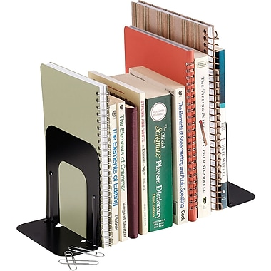 SteelMaster® Non-Slip Bookends, Black, 5