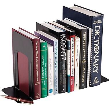 SteelMaster® - Appui-livres anti-dérapants, noir, 9 po