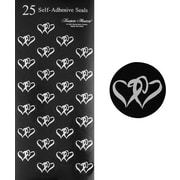Great Papers® Black & Silver Double Hearts Seals, 100/Pack