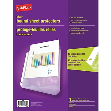Staples Bound Sheet Protectors, 1/Set (16935)
