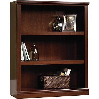 Sauder 3-Shelf Bookcase, Select Cherry