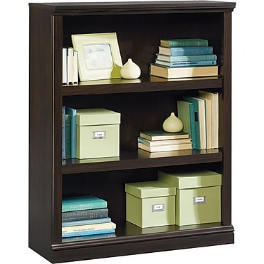 Sauder 3-Shelf Bookcase, Jamocha Wood