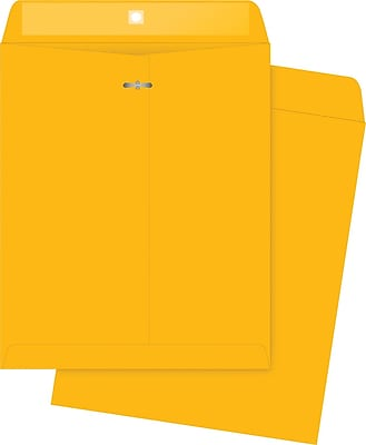 Quality Park Gummed Clasp Envelopes, 10