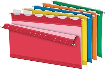 Pendaflex® Ready Tab® Hanging File Folders, Legal, 1/5-Cut, Assorted Colors