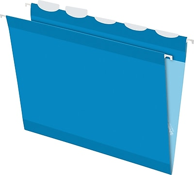 Pendaflex® Ready Tab® Hanging File Folders, Letter, 1/5-Cut, Blue