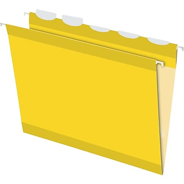 Pendaflex® Ready-Tab® Reinforced Hanging Folders, 5-Tab, Letter, Yellow, 25/Box (42624)