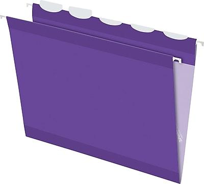 Pendaflex® Ready Tab® Hanging File Folders, Letter, 1/5-Cut, Violet