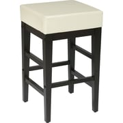 "OSP Designs® Metro Faux Leather 24"" Bar Stool, Cream"