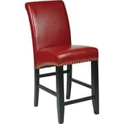 "OSP Designs® Metro Bonded Leather 24"" Parsons Stool w/ Nail Heads, Crimson Red"