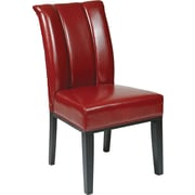OSP Designs® Metro Bonded Leather Pleated Back Parsons Chair; Crimson Red
