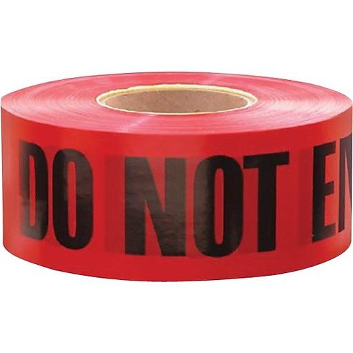 Irwin® Strait-line® Danger Do Not Enter Tape Barrier Tape, Yellow/Black