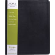 "Eccolo Flexible Journal, Black Leather, 8"" x 10-1/2"""