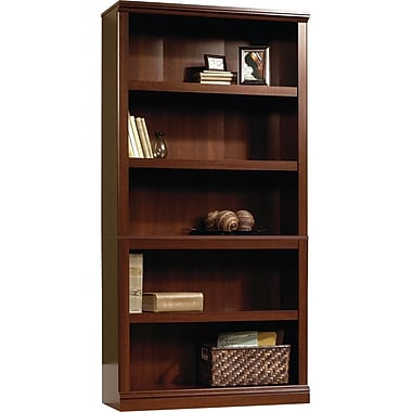 Sauder 5-Shelf Bookcase, Select Cherry