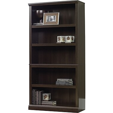 Sauder 5-Shelf Bookcase, Cinnamon Cherry