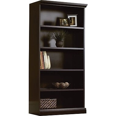 Sauder 5-Shelf Bookcase, Estate Black