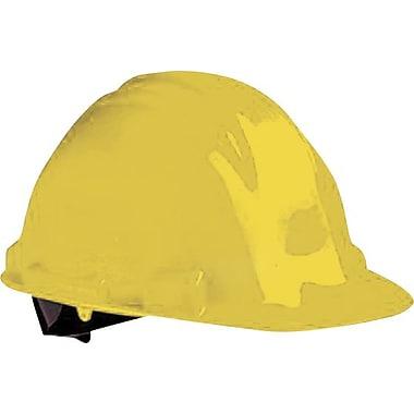 North® Peak Hard Hats, HDPE, 4 Point, Yellow, Ratchet