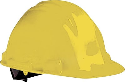 North® Peak Hard Hats, HDPE, 4 Point, Yellow, Ratchet