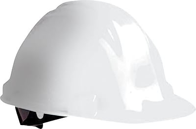 North® Peak Hard Hats, HDPE, 4 Point, Pin-Lock, White