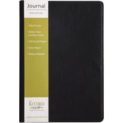 """Eccolo Simply Back Pocket Size Flexible Journal, Black Faux Leather, Journal Ruled, 5 1/2"""" x 8"""", 128 Sheets"""