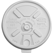 Dart® Lift'n'Lock Cup Lid, 12 - 24 oz., 1000/Case (DCC 16FTL)