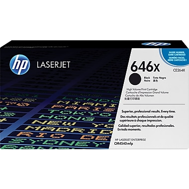 HP 646X (CE264X) Black High Yield Original LaserJet Toner Cartridge