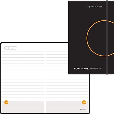 AT-A-GLANCE® Perfect-Bound Planning Notebook Lined with Monthly Calendars, 3 3/8