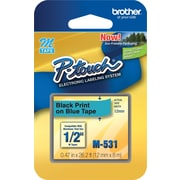 "Brother® M531 Black on Blue Label Tape, 1/2"" x 26-1/5'"