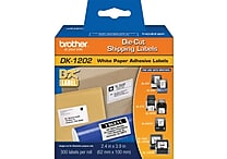 Brother DK-1202 2.4 in x 3.9 in Shipping Paper Label White 300 Labels Per Roll