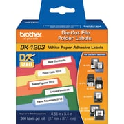 "Brother® ""DK"" Series Printer Label Tape, 2/3X3-7/16"", Die-Cut"