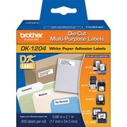 "Brother® ""DK"" Series Printer Label Tape, 2/3X2-1/8"", Die-Cut"