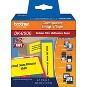 "Brother DK2606 2 3/7"" Continuous-Length Film Tape, Black/Yellow"